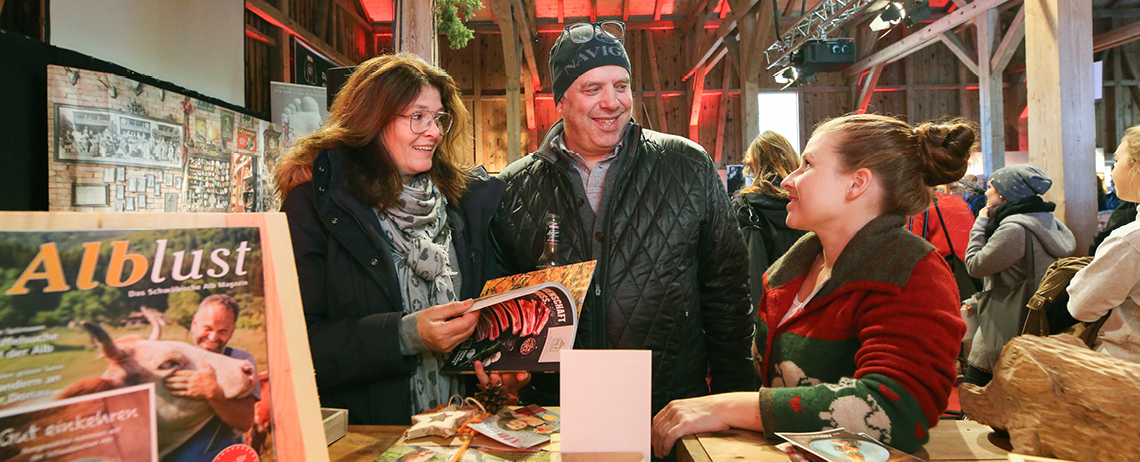 Das Magazin Alblust war auch im Jahr 2018 wieder auf der Messe schön&gut im Alten Lager, Münsingen vertreten.